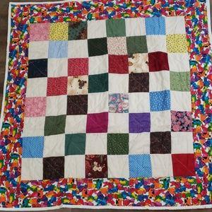 Handmade Quilt 9 patch pieced Quilt